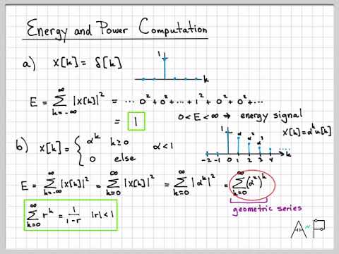 Discrete-Time Signals and Systems Part 1 (9/10) - Energy and Power Computation Example