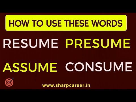 IMPROVE Your ENGLISH Vocabulary: TO PRESUME Vs. TO ASSUME   YouTube
