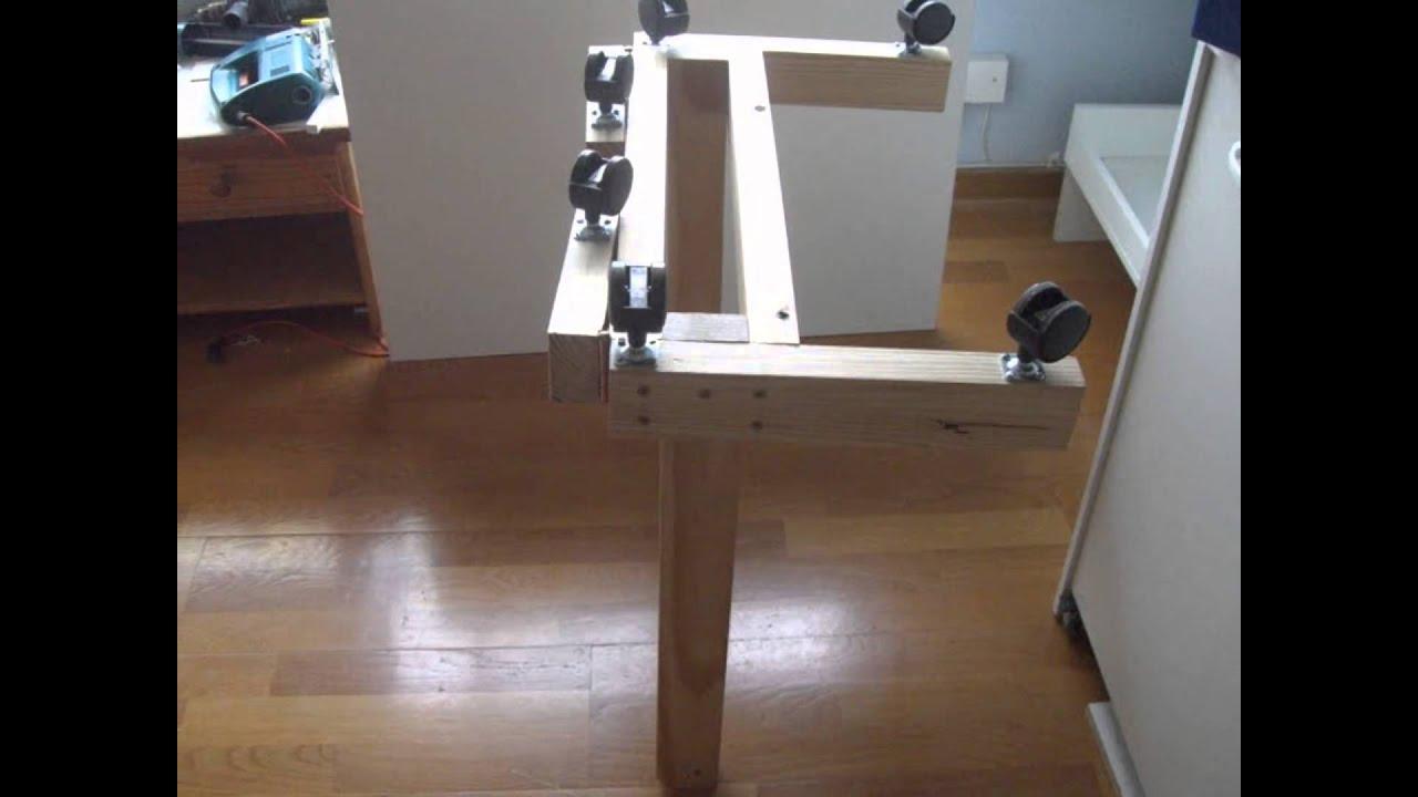 Mesa de dibujo abatible khmertracks - Como hacer una mesa abatible ...