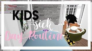 Kid's Sick Day Routine! // Roblox, Bloxburg | gxldengloss
