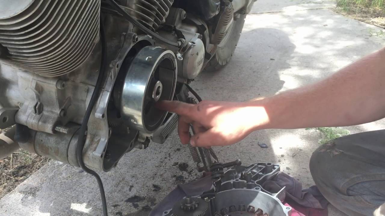 small resolution of starter stuck engaged how to replace the starter clutch on a motorcycle yamaha virago xv535 youtube