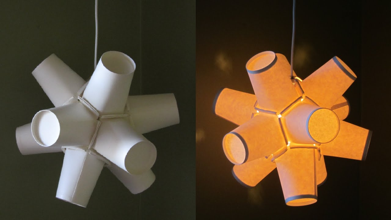 Paper cup lamp diy best out of waste project ezycraft for Waste out of best for school projects