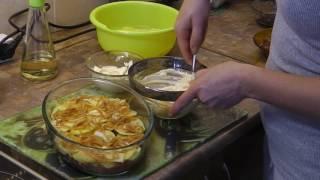 Простой рецепт приготовления мяса с картошкой в духовке!!!