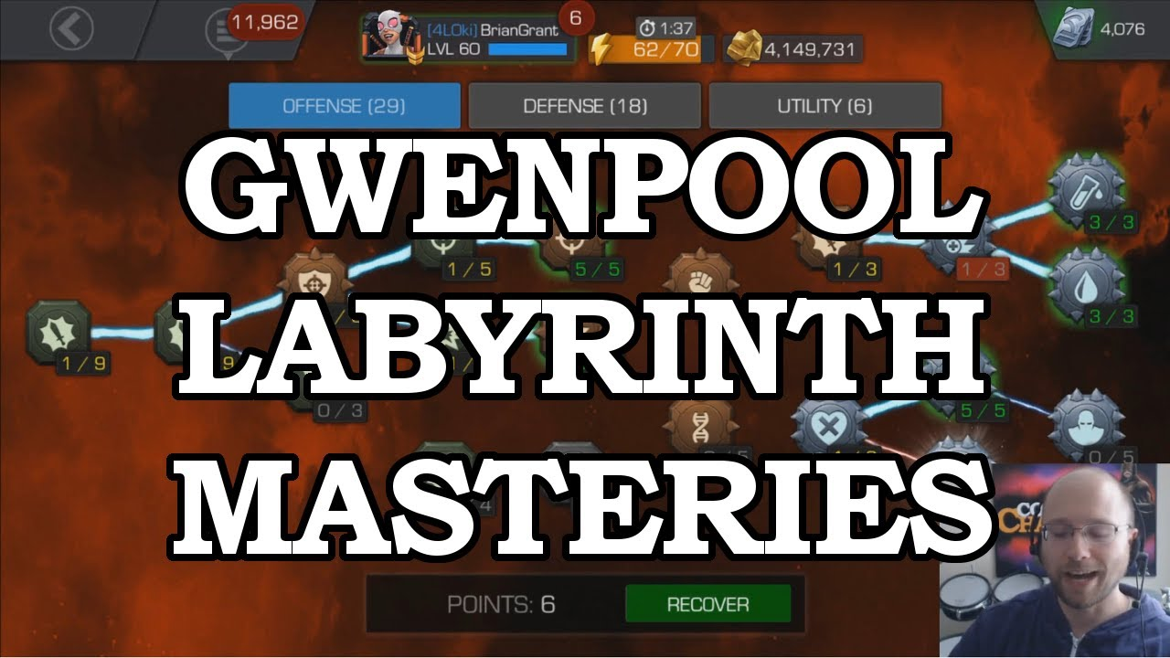 Labyrinth Mastery Build for Gwenpool   Marvel Contest of Champions