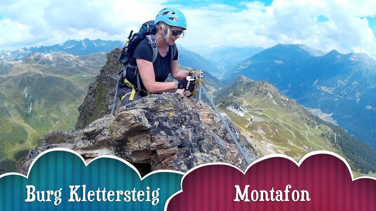 Klettersteig Burg : Burg klettersteig montafon youtube