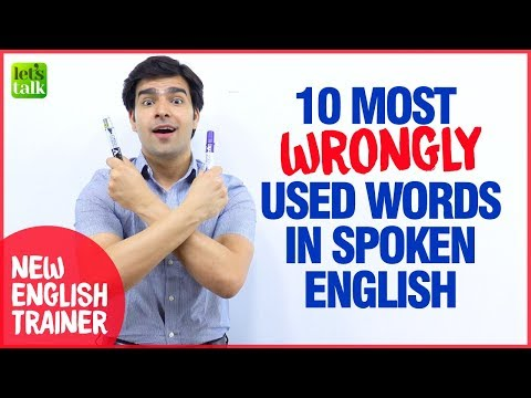 10 WRONGLY Used Words & Expressions In English 😱 | Common Grammar Mistakes Made in English Speaking
