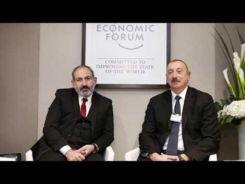 Встреча Пашиняна и Алиева в Давосе #новости2019