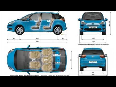 citroen c4 grand picasso dimensions youtube. Black Bedroom Furniture Sets. Home Design Ideas