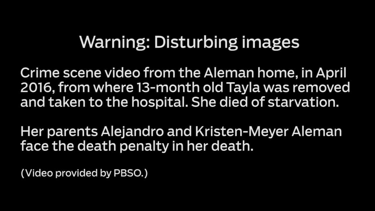 Warning: Disturbing images: Crime scene video from home where 13-month-old  starved to death