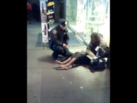 NY Police Officer Larry DePrimo Buy Boots for a Homeless Man