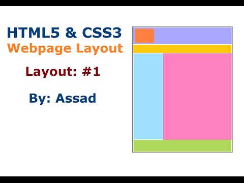 HTML5 and CSS Webpage Layout #1  (English)