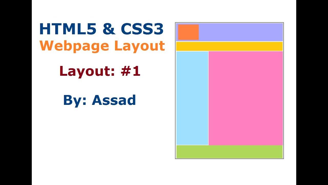 HTML5 and CSS Webpage Layout #1 (English)