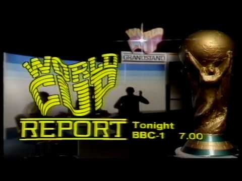 BBC1: Evening News / World Cup Grandstand (clips) / continuity - Monday 5th July 1982