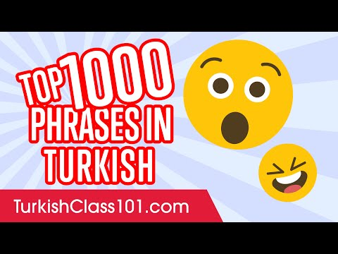 Top 1000 Most Useful Phrases in Turkish
