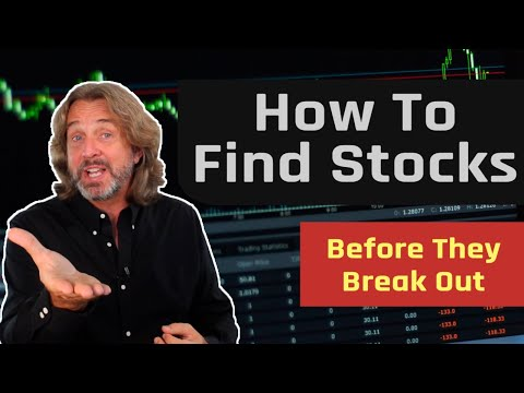 How To Find Stocks Before They Break Out