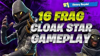 WOAH This Skin Is Viscous ... Cloaked Star 16 Frag (Fortnite Battle Royale)