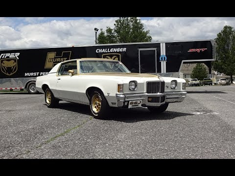 1972 Pontiac Grand Prix Hurst SSJ in White / Gold & 455 Engine Sound My Car Story with Lou Costabile
