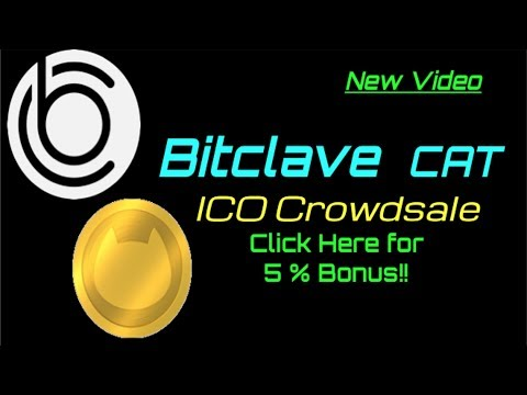 Newest Video!!  Bitclave ICO LIVE!!   5% bonus Link!  U.S. can Buy!