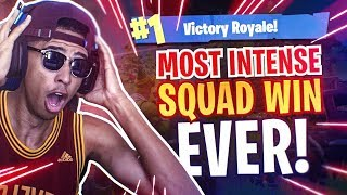 MOST *INTENSE* FORTNITE SQUAD WIN EVER! TAKING ON FULL SQUADS BY MYSELF! Fortnite Battle Royale