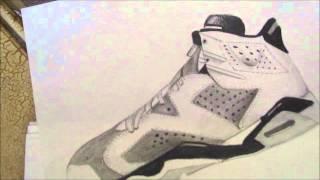 Amazing Hand drawing of Jordan retro 5&6!!