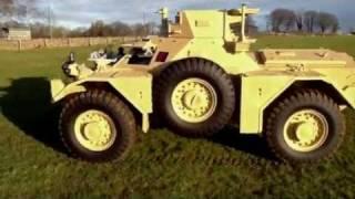 Ferret装甲車の説明風景。
