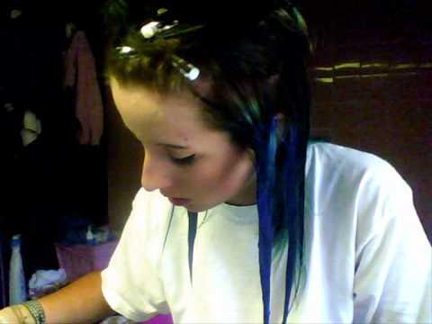 comment colorer vos cheveux en bleu how to dye your hair blue - Coloration Bleu Nuit