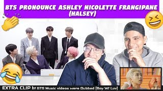 NSD REACT TO BTS PRONOUNCE ASHLEY NICOLETTE FRANGIPANE (Halsey)|EXTRA| If 'boy with luv' was dubbed