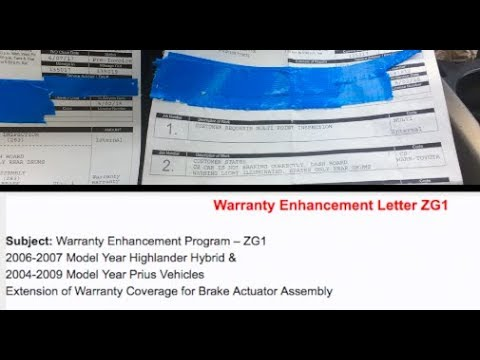Toyota Prius Warranty Enhancement ZG1 (brake failure) Full and free fix