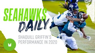 Seahawks.com reporter jackie montgomery reports on seahawks cornerback shaquill griffin leading the team in passes defended and his overall performance th...