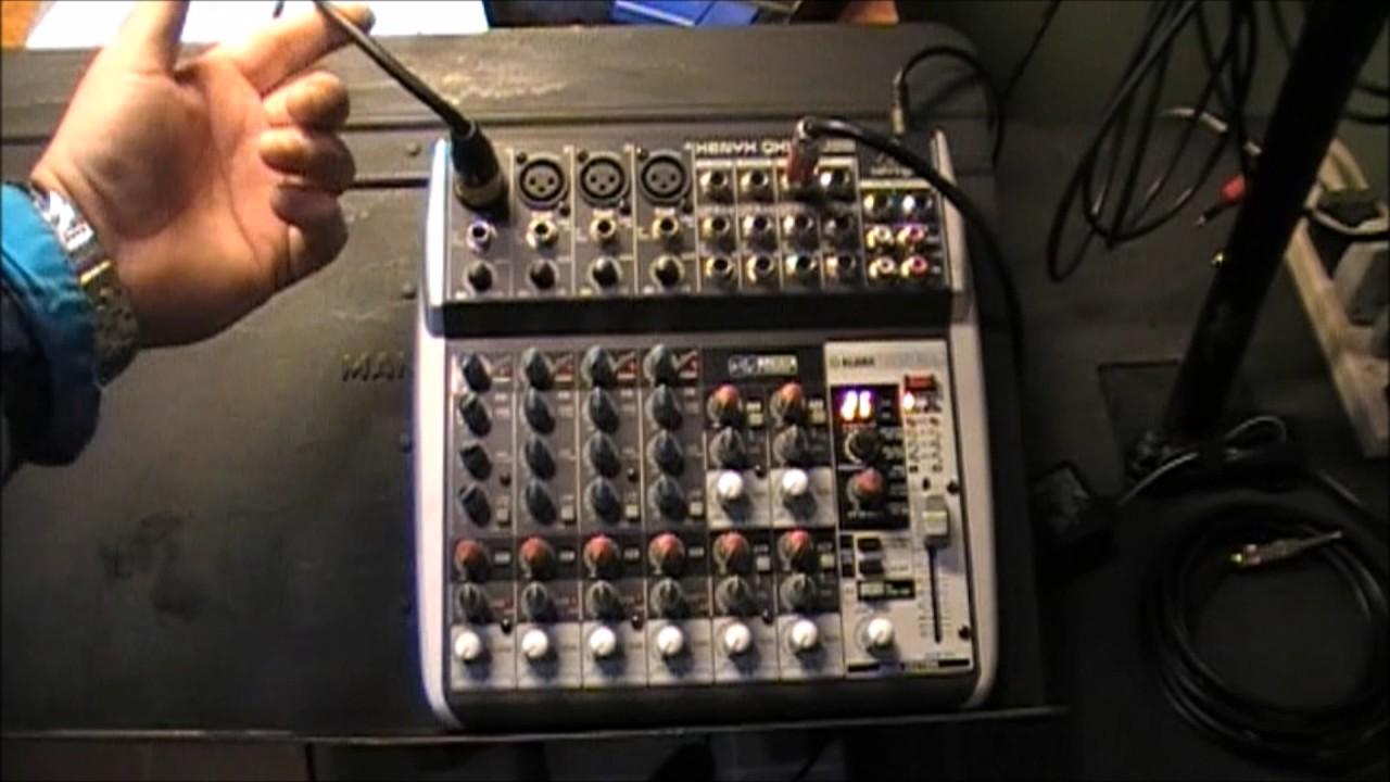 behringer mixer how to do a setup [ 1280 x 720 Pixel ]