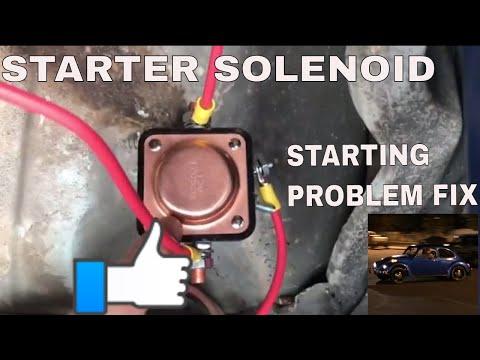 vw bug starter wiring starter solenoid on classic vw beetle youtube vw bug starter solenoid wiring starter solenoid on classic vw beetle