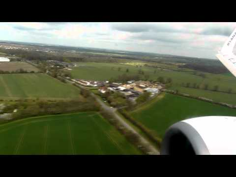 Ryanair London Stansted landing