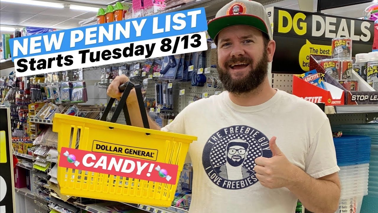 🍬 CANDY!! New Penny List at Dollar General Starts Tuesday August 13th!