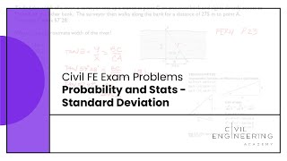 Civil FE Exam - Probability and Stats - Standard Deviation
