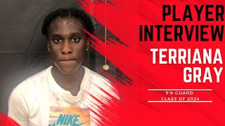 A1 Hoops Report Coach Allen interviews 2024 Terriana Gray