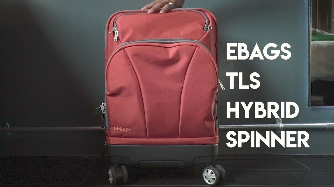 9c20f40ec eBags TLS Hybrid Spinner Carry-on - YouTube