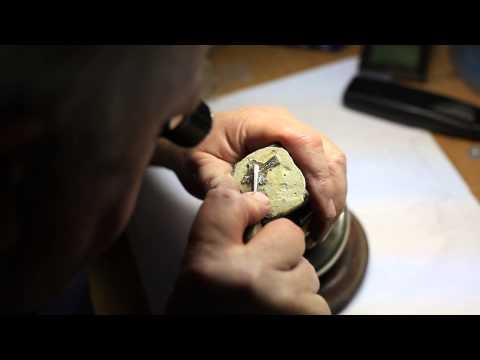 Foxford Jewellery's Master Goldsmith, Michael Field at work
