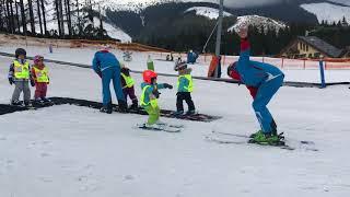 Видео-урок.Как поставить ребенка на лыжи