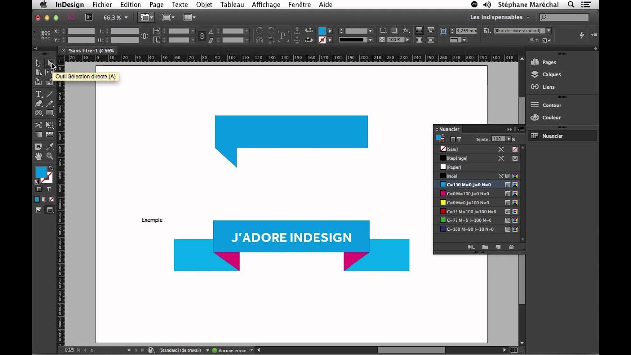 adobe indesign - cr u00e9er rapidement un ruban d u00e9coratif