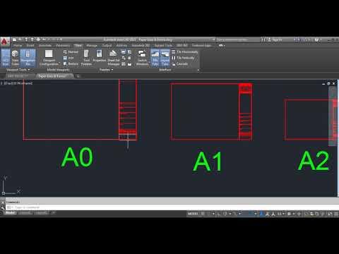 طريقة عمل Layout على الاوتوكاد والطباعة بمقياس رسم