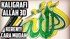 Kaligrafi Arab Berwarna Indah Youtube