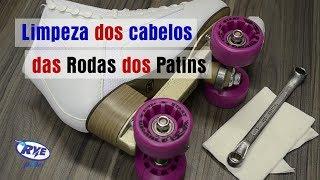 LIMPEZA DE CABELO DAS RODAS DO PATINS