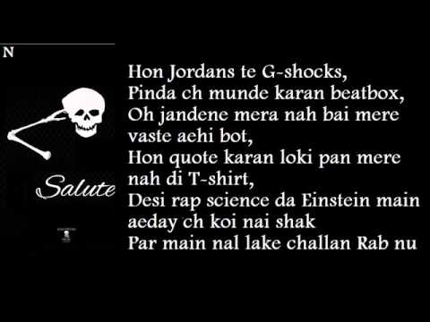 BOHEMIA - Lyrics of Full Song 'Salute' by Bohemia