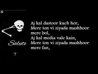 BOHEMIA - Lyrics of Full Song