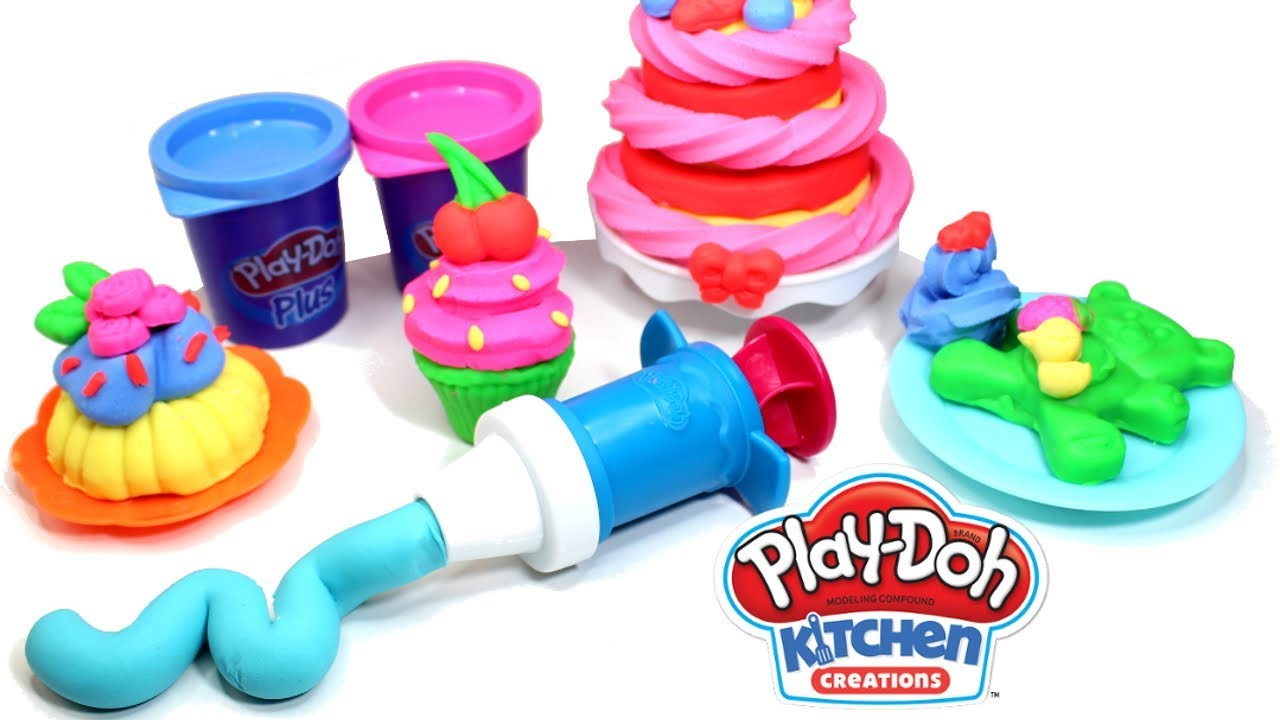 Play Doh Frost N Fun Cakes Playset Review Unboxing Play Doh Kitchen