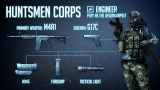 """""""Huntsmen Corps"""" : BF3 Engineer Loadout & M4A1 Gameplay"""
