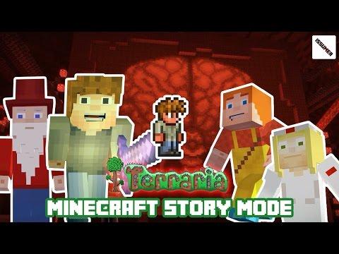 Terraria Brain Of Cthulhu PAMA Vs Guide! Minecraft Story Mode (Terraria Theme)
