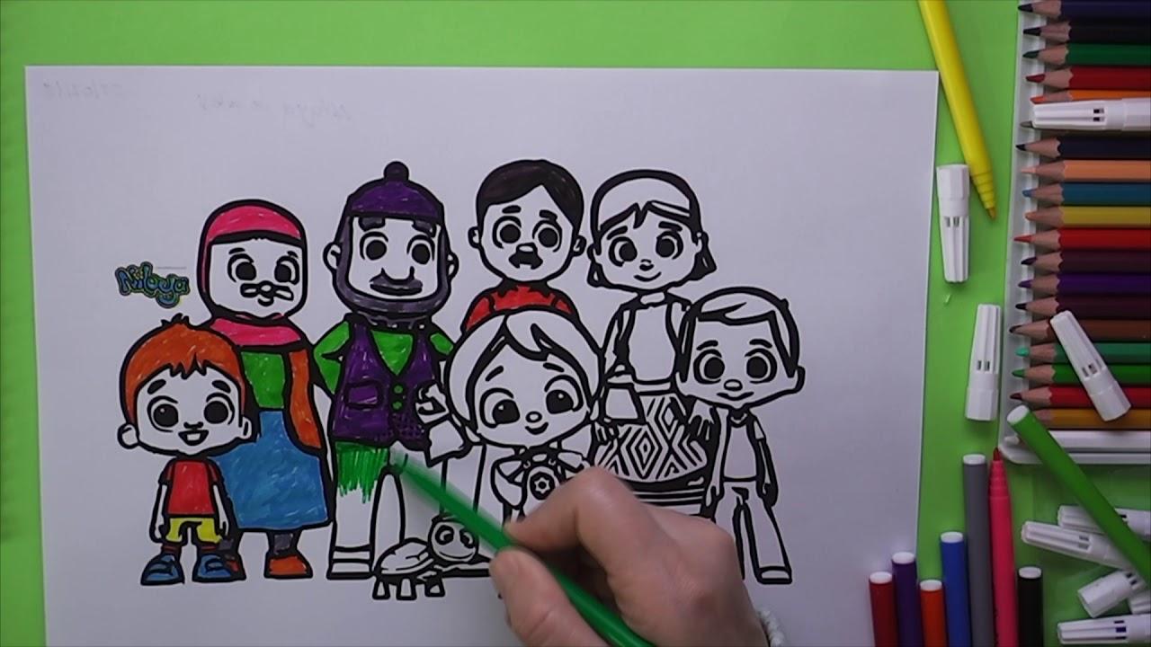 Niloya Ve Ailesini Boyama Niloya Nasil Boyanir Coloring Niloya