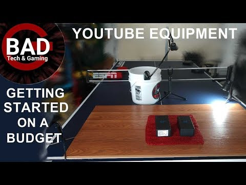 YouTube Equipment/Setup - Cheap Under $80 - You don't even need all this stuff