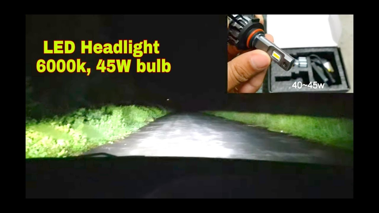 Auxbeam H8 H11 45W LED Single Mode CREE Highlight Integrated Car Headlights